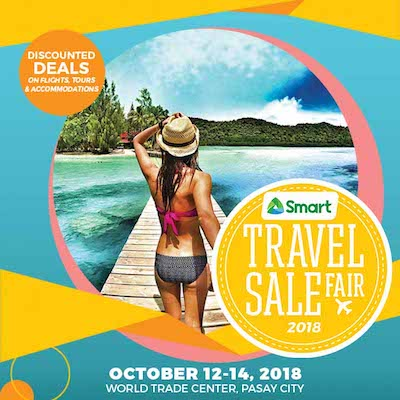 The @TravelSaleFair, now on its 4th year is back! Book discounted deals on airlines, tours, hotels & resorts during this limited 3-day affair from the likes of Air Asia, Philippine Airlines, Two Seasons, Eskaya, JTB H.I.S. and more.